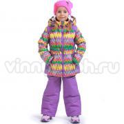 Весенний комплект Kiko для девочки АКВАРЕЛЬ (фиолетовый), 1-4 года