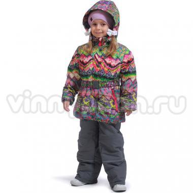 Купить Весенний комплект Kiko для девочки СЕМИЦВЕТИК (малина/серый), 4-8 лет