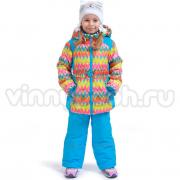 Весенний комплект Kiko для девочки АКВАРЕЛЬ (голубой), 1-4 года