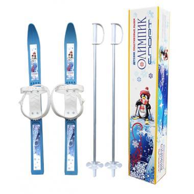 Детские лыжи Олимпик спорт, комплект с палками