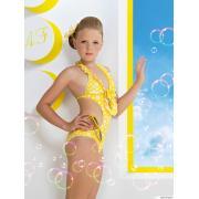 Купальник для девочек (трикини) + заколка GS 031504A AF Bailey (желтый)