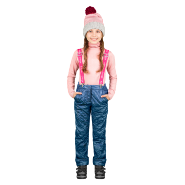 Брюки на флисе BOOM! by Orby для девочки (джинс), 1,5 года-13 лет