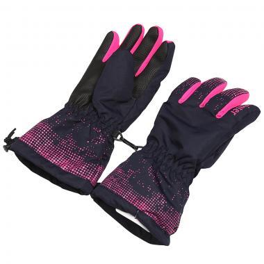 Зимние перчатки Зимовичок подростковые Winter (синий/фуксия), 6-14 лет