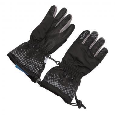 Зимние перчатки Зимовичок подростковые Winter (черный/серый), 6-14 лет