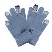 """Зимние перчатки Корона с рисунком """"DEER"""" (серо-голубой), 4-6лет"""