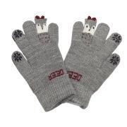 """Зимние перчатки Корона с рисунком """"DEER"""" (серый), 4-6 лет"""