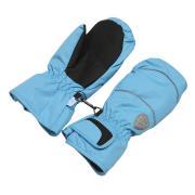 Зимние варежки ЗИМОВИЧОК на липучке Snowlove (голубой), 6-14 лет